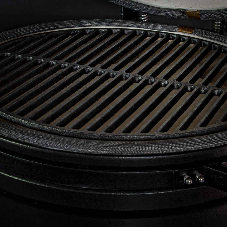 kamado bbq large grill bill pro 21 inch close 2